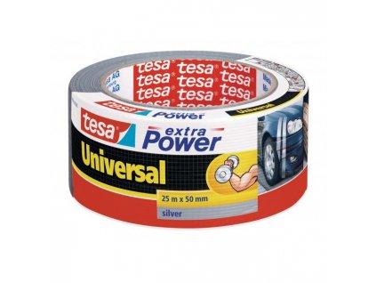 Textilná páska TESA silne lepiaca strieborná 50mm x 25m