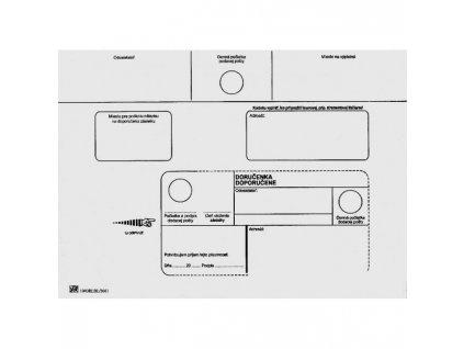 Poštové obálky C5 doručenka, 100 ks olizové