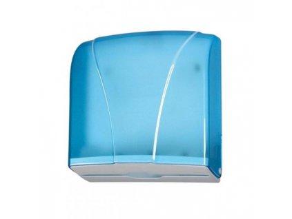 Zásobník na skladané utierky ZZ, priehľadný modrý