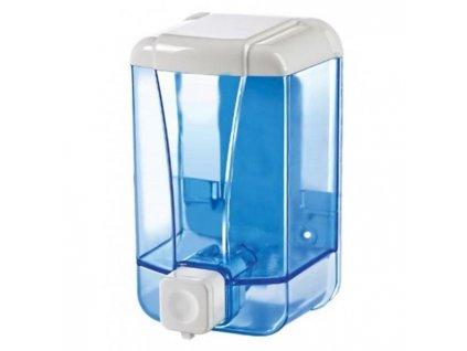 Dávkovač na tekuté mydlo priehľadný modrý 1000ml