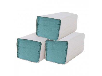 Papierové utierky skladané ZZ 1-vrstvové zelené (20bal.)