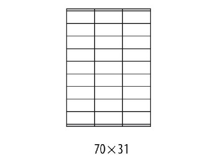 Etikety univerzálne 70x31mm Etibox A4 100 hárkov