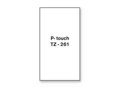 Samolepiaca páska Brother TZe-261 36mm biela/čierna