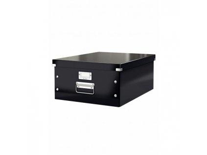 Veľká škatuľa A3 Click & Store čierna
