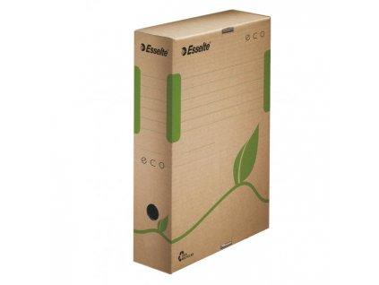 Archívny box Esselte ECO 80mm hnedý