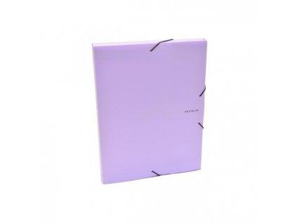 Plastový box s gumičkou Karton PP Pastelini fialový