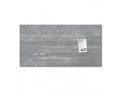 Sklenená tabuľa artverum 91x46cm podhľadový betón