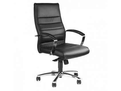 Kancelárske kreslo TD Lux 10 kožené čierne