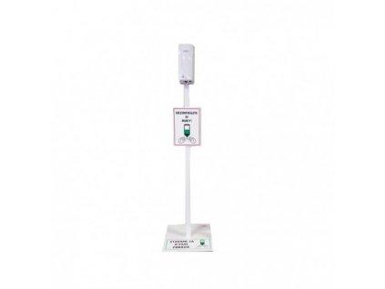 Bezdotykový stojan s dávkovačom pre tekutú dezinfekciu biely