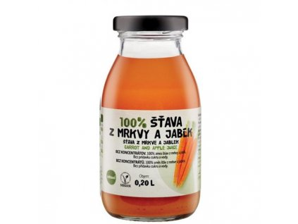 ZDRAVO šťava 100% mrkvovo-jablková 10x0,2l NEVRATNÉ SKLO