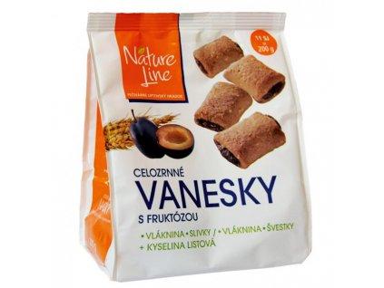 Sušienky celozrnné Vanesky so slivkami 200g
