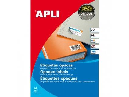 Etikety nepriehľadné 70x37mm APLI A4 20 hárkov