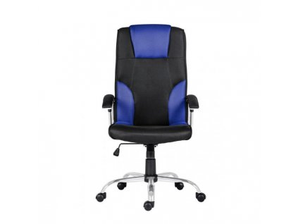 Kancelárske kreslo Miami, čierne/modrá