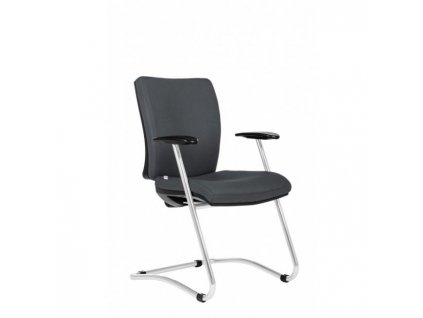 Konferenčná stolička Gala sivá D5