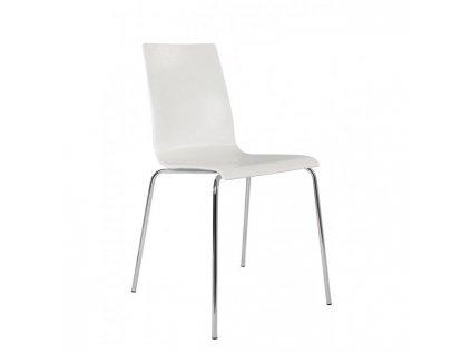 Konferenčná a jedálenská stolička Laura, biela