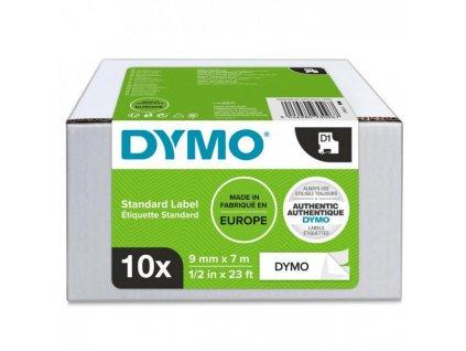 Samolepiaca páska Dymo D1 9 mm čierna/biela, 10ks