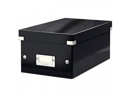 Škatuľa na DVD Click & Store čierna