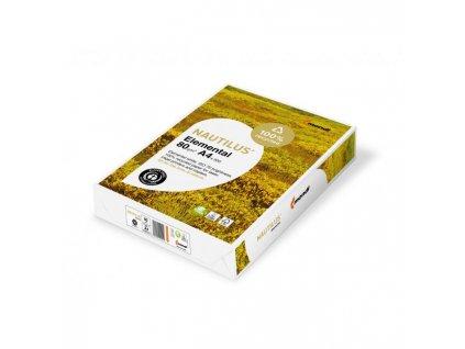 Kopírovací papier Nautilus Elemental recyklovaný A4, 80g, CIE 55