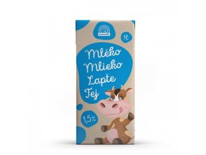 Trvanlivé mlieko Euromilk 1,5% polotučné 1l