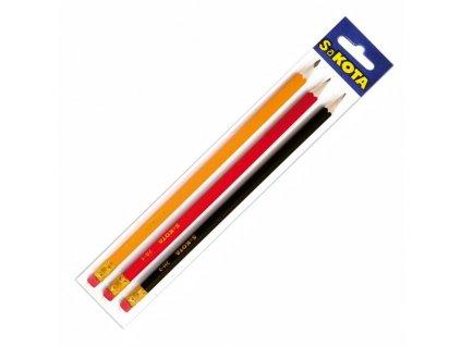 Ceruzka grafitová Sakota sada 2B, HB, 2H  3ks