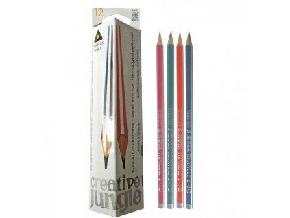 Ceruzka grafitová Sakota trojhranná bez gumy HB 12ks