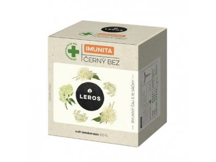 Čaj LEROS Natur Imunita bylinný čierna baza 10x1g