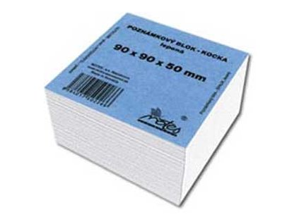 Blok kocka lepená 90x90x45 mm biela