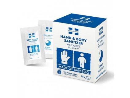 Sanitizer- dezinfekčné vlhčené utierky na ruky HG-8HBW (15ks)