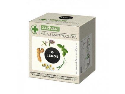 Čaj LEROS Natur Imunita bylinný mäta a materiná dúška 10x1,5g