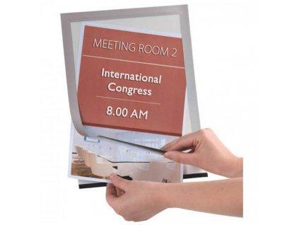 Magnetický držiak dokumentov A4 strieborný 2 ks