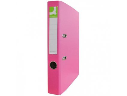 Zakladač pákový Q-connect 4,7cm ružový