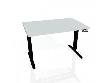 Pracovný stôl Motion, PO, 3S, 180x61 - 128x80 cm, sivá/čierna