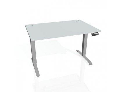 Pracovný stôl Motion, PO, 3S, 180x61 - 128x80 cm, sivá/sivá