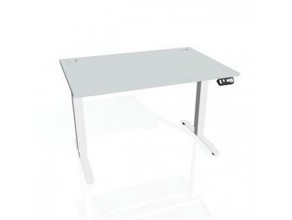 Pracovný stôl Motion, PO, 3S, 180x61 - 128x80 cm, sivá/biela
