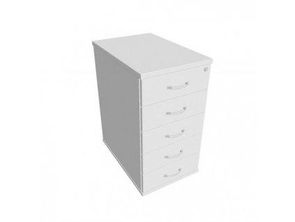 Kontajner Hobis, 40x75,5x60 cm, biela/biela