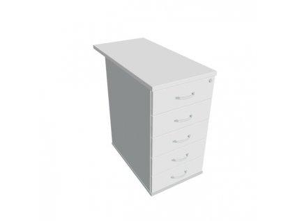 Kontajner Hobis, 40x75,5x80 cm, biely/sivý