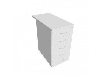 Kontajner Hobis, 40x75,5x80 cm, biela/biela