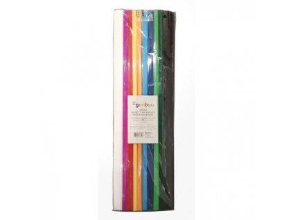 Krepový papier Gimboo 50x200cm mix farieb