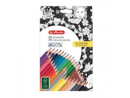 Farebné ceruzky k antistresovým omaľovánkam 36 farieb
