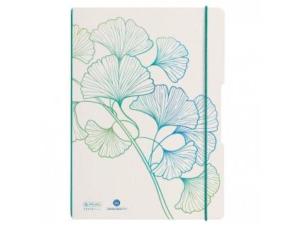 Zošit Herlitz my.book Flex Greenline Ginko A4 2x40 listov linajkový štvorčekový PP