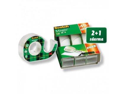 Lepiaca páska Scotch Magic 19mm x 7,5m s dispenzorom 2+1 zdarma