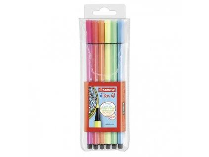 Sada STABILO Pen 68 neon 6 ks Púzdro