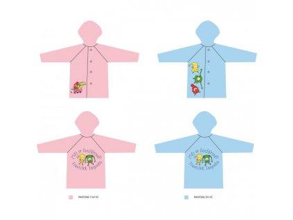 Detský pršiplášť Kúzelná škôlka modrý 3-4 roky