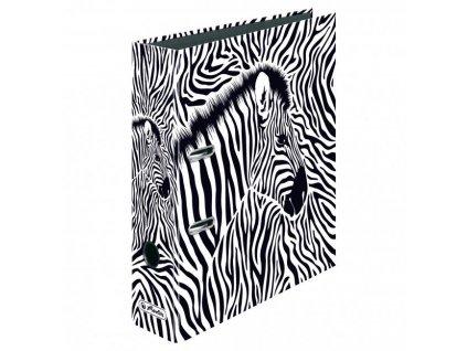 Zakladač pákový Herlitz 8cm Zebra