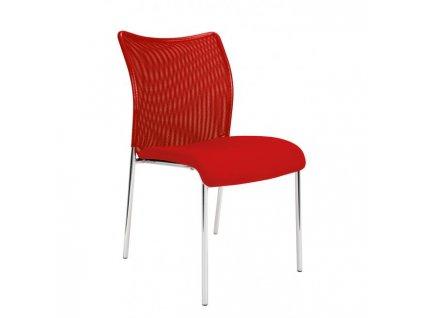 Konferenčná stolička Vanity Plus, červená