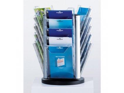 Otočný stojan na stôl COMBIBOXX A4 XL s 15 odkladačmi