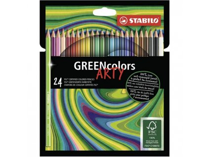 Farbičky STABILO GREENcolors 24ks `ARTY`
