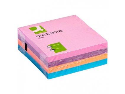 Bloček kocka Q-CONNECT 76x76mm 320l pastelová