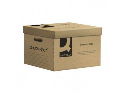 Archívna škatuľa s odnímateľným vekom Q-connect hnedá