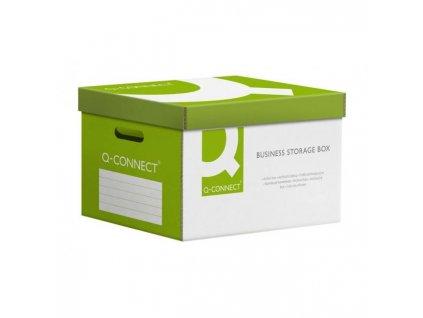 Archívna škatuľa s odnímateľným vekom Q-connect zelená